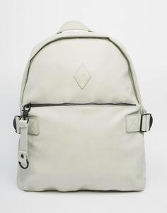 Рюкзак из искусственного нубука с карманом спереди Dark Future - Серый
