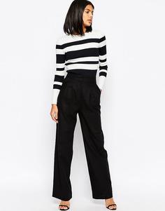 Широкие льняные брюки ASOS - Черный