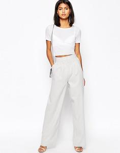 Широкие льняные брюки ASOS - Серый