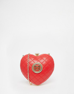 Стеганый красный клатч в форме сердца Love Moschino - 513 красный