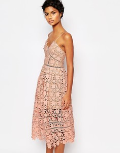 Платье Self Portrait Azaelea - Румяный розовый