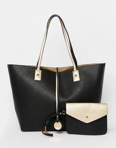 Двусторонняя сумка-шоппер с металлической отделкой Dune