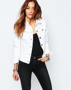 Приталенная джинсовая куртка Replay - Белый