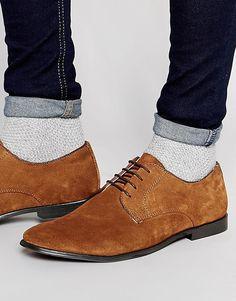 Туфли дерби из светло-коричневой замши ASOS - Рыжий