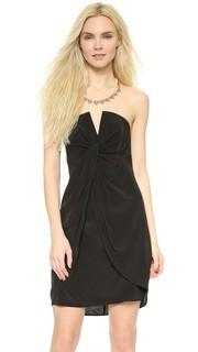 Шелковое платье с V-образным вырезом Zimmermann
