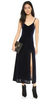 Длинное платье-комбинация из вельвета Only Hearts