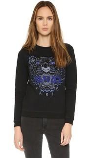 Толстовка-пуловер с изображением тигра Kenzo