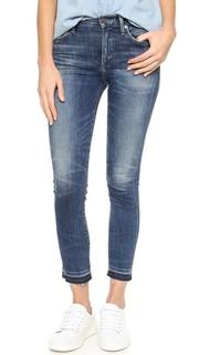 Укороченные джинсы-скинни Rocket с высокой посадкой Citizens of Humanity