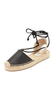Гладиаторские сандалии на платформе Soludos