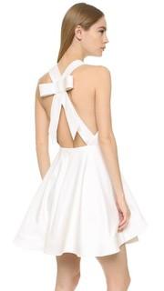 Платье с открытой спиной и бантом Cushnie et Ochs