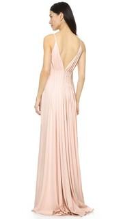 Вечернее платье с открытой спиной Badgley Mischka Collection