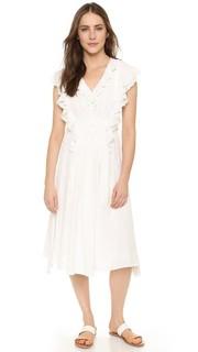 Миди-платье San Rafael с оборками Apiece Apart