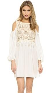 Кружевное платье с бахромой Chio