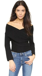 Топ-свитер с запахом Line &; Dot