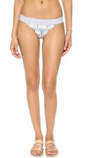 Плавки бикини с низкой талией и мозаичным принтом Tory Burch