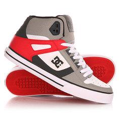 Кеды кроссовки высокие DC Spartan High Wc Grey/Red/White