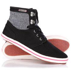 Кеды кроссовки высокие женские Roxy Connect High Black