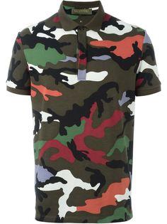 футболка-поло с камуфляжным принтом  Valentino