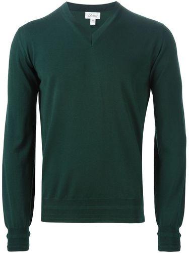 свитер с V-образным вырезом Brioni