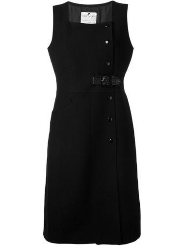 платье без рукавов с запахом Courrèges Vintage