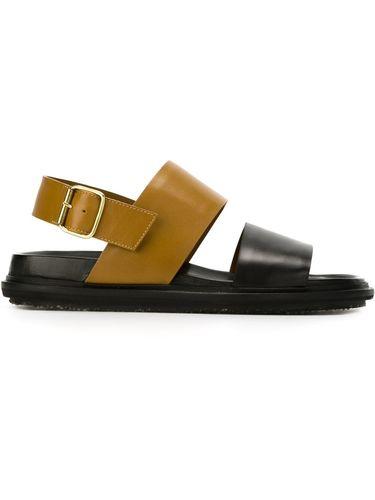 сандалии с широкими ремешками  Marni
