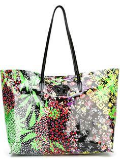 сумка-тоут с цветочным принтом   Versace
