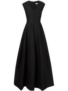 длинное платье с цветочным принтом Halston Heritage