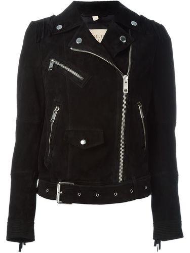 байкерская куртка с бахромой Burberry Brit