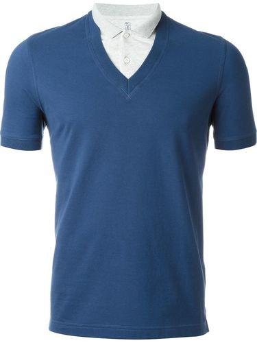футболка-поло с V-образным вырезом Brunello Cucinelli