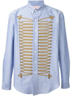 рубашка с вышивкой в стиле милитари Palm Angels