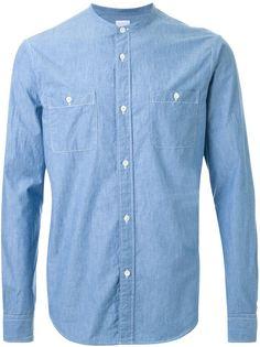 рубашка с воротником-стойкой  Cityshop