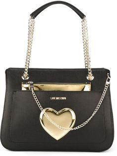 heart detail shoulder bag Love Moschino