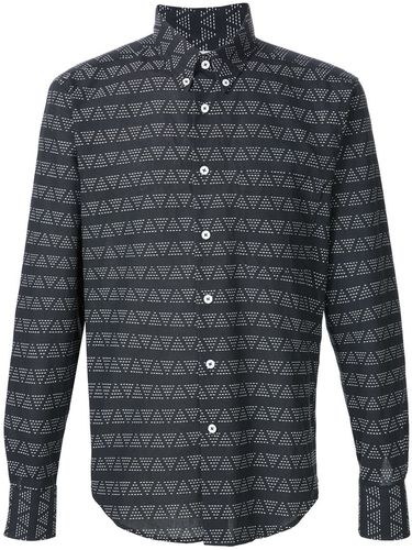 triangle print shirt Naked And Famous