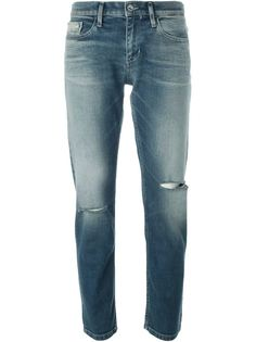 джинсы бойфренда с потертой отделкой Calvin Klein Jeans