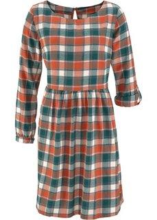 Фланелевое платье (красный/ночная синь в клетку) Bonprix