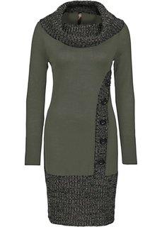 Вязаное платье (гранатовый) Bonprix