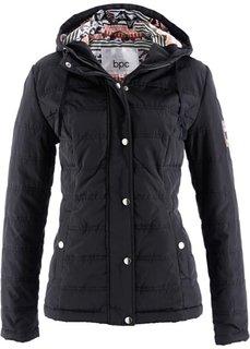 Стеганая куртка с капюшоном (темно-оливковый) Bonprix