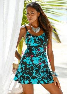 Формирующее купальное платье (бирюзовый/черный) Bonprix