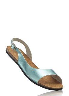 Кожаные сандалии (серебристый металлик) Bonprix