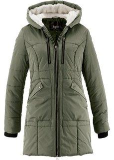 Куртка с капюшоном на подкладке (черный) Bonprix