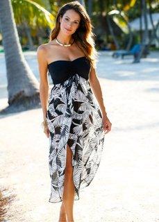 Пляжное платье (черный/белый) Bonprix