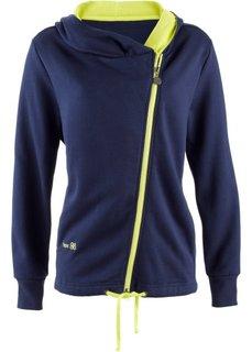 Трикотажная куртка с асимметричной застежкой-молнией (светло-серый меланж с рисунком) Bonprix