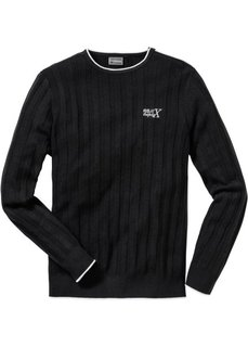 Пуловер Slim Fit (светло-серый меланж) Bonprix