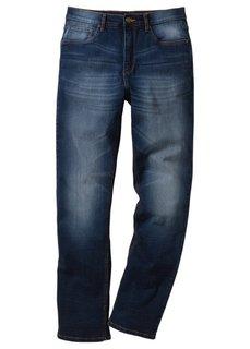 Джинсы-стретч Classic Fit Straight, низкий + высокий рост (U + S) (синий) Bonprix