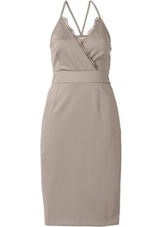 Платье с кружевными вставками (синий) Bonprix