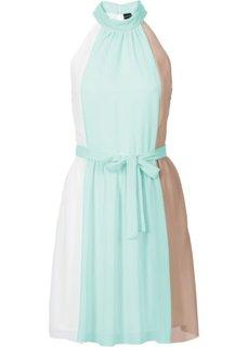 Платье с американской проймой (белый/коралловый/серо-коричнев) Bonprix