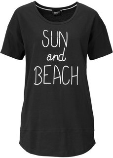 Удлиненная футболка (белый) Bonprix