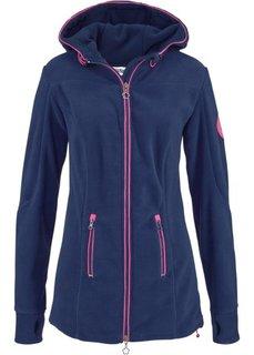 Флисовая куртка с вышивкой (антрацитовый) Bonprix