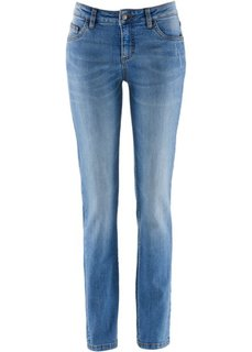 Джинсы-стретч STRAIGHT, высокий рост (L) (синий «потертый») Bonprix
