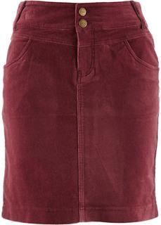 Вельветовая юбка (бордовый) Bonprix